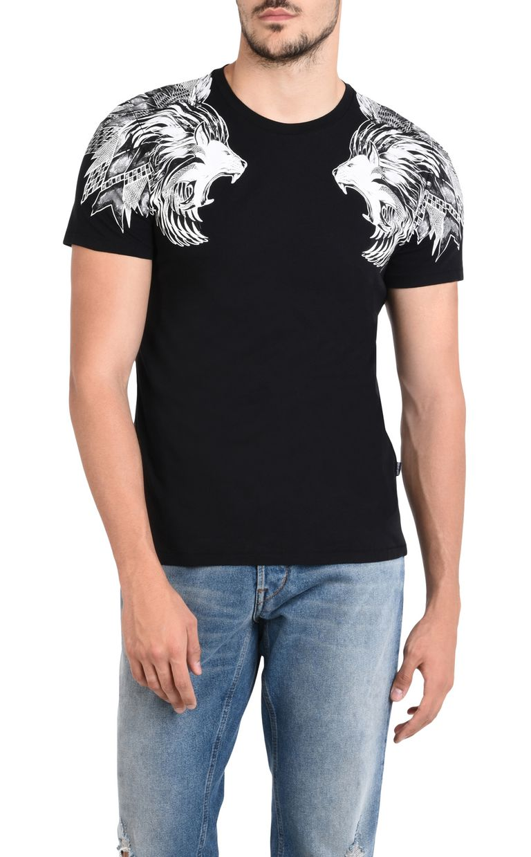 JUST CAVALLI Short-sleeved T-shirt with print design Short sleeve t-shirt U f