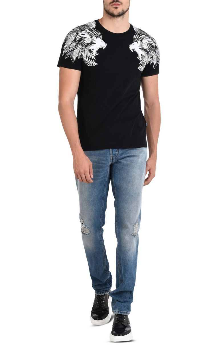 JUST CAVALLI Short-sleeved T-shirt with print design Short sleeve t-shirt U r