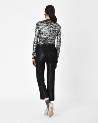 ISABEL MARANT TROUSER Woman MATEO lustrous jacquard lurex flared trousers r