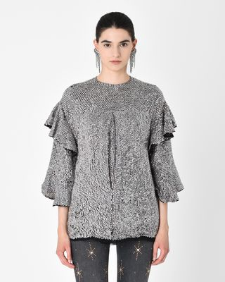 BASILE sequin embroidered top