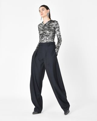 ISABEL MARANT TOP D DIEGO top in jersey, silk jacquard and lurex r
