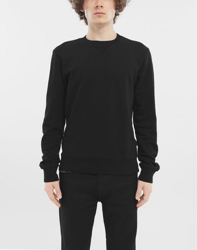SWEATERS Cotton crewneck sweatshirt Black