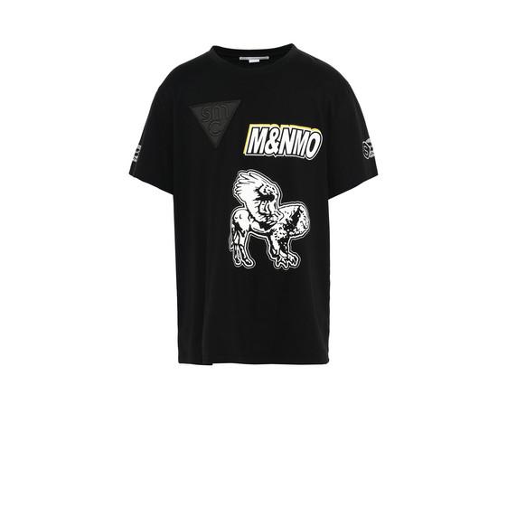 T-Shirt Nera con Stampa Speedway