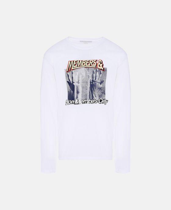 白色印纹 T 恤