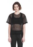 ALEXANDER WANG LACY T-SHIRT WITH RAW EDGES 上衣 Adult 8_n_e