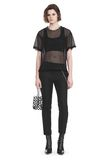 ALEXANDER WANG LACY T-SHIRT WITH RAW EDGES 上衣 Adult 8_n_f