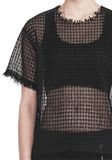 ALEXANDER WANG LACY T-SHIRT WITH RAW EDGES 上衣 Adult 8_n_r
