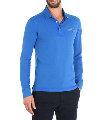 NAPAPIJRI ELBAS LONG SLEEVES MAN LONG SLEEVE POLO,BLUE