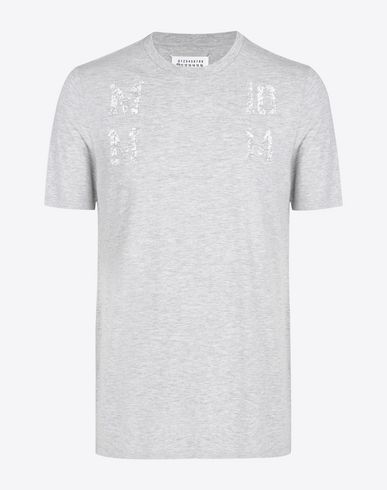 MAISON MARGIELA Cotton T-shirt with faded print Short sleeve t-shirt U f