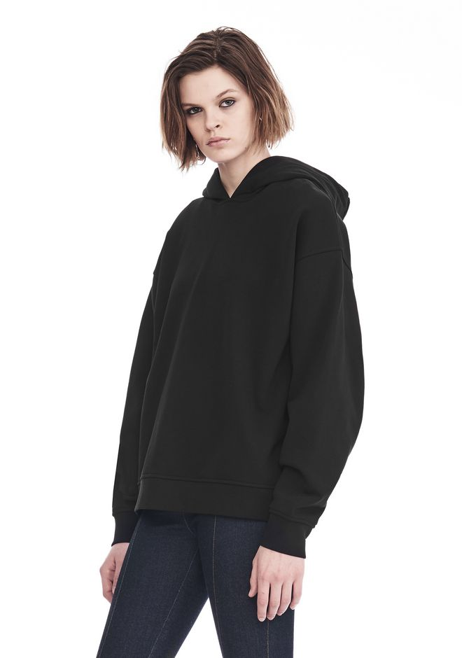 ALEXANDER WANG EXCLUSIVE OVERSIZED HOODIE WITH STRICT PATCH TOP Adult 12_n_a