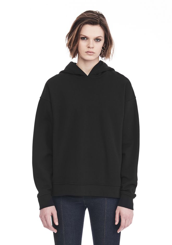ALEXANDER WANG EXCLUSIVE OVERSIZED HOODIE WITH STRICT PATCH TOP Adult 12_n_d