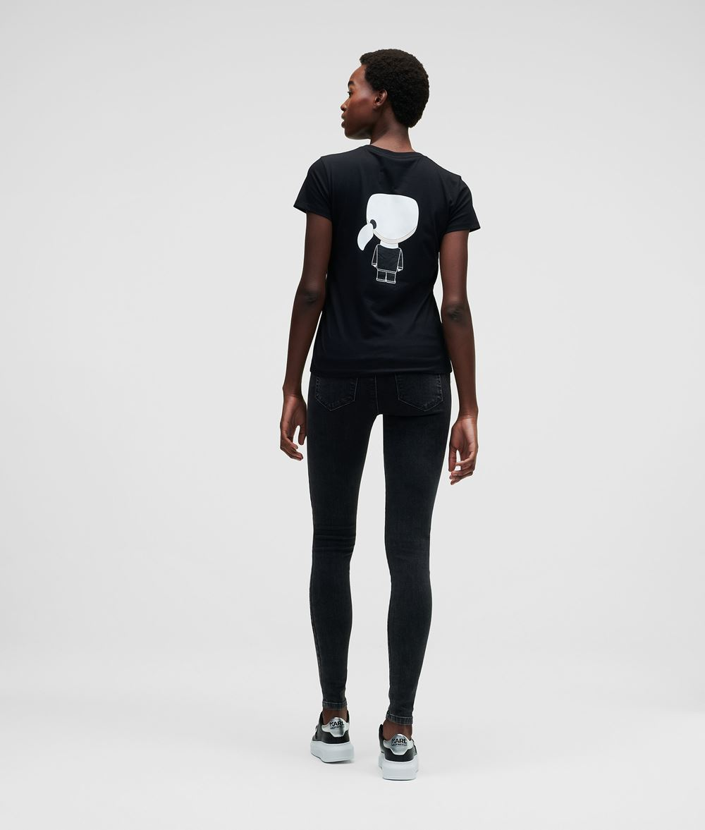 KARL LAGERFELD Ikonik Karl T-Shirt T-shirt Woman d