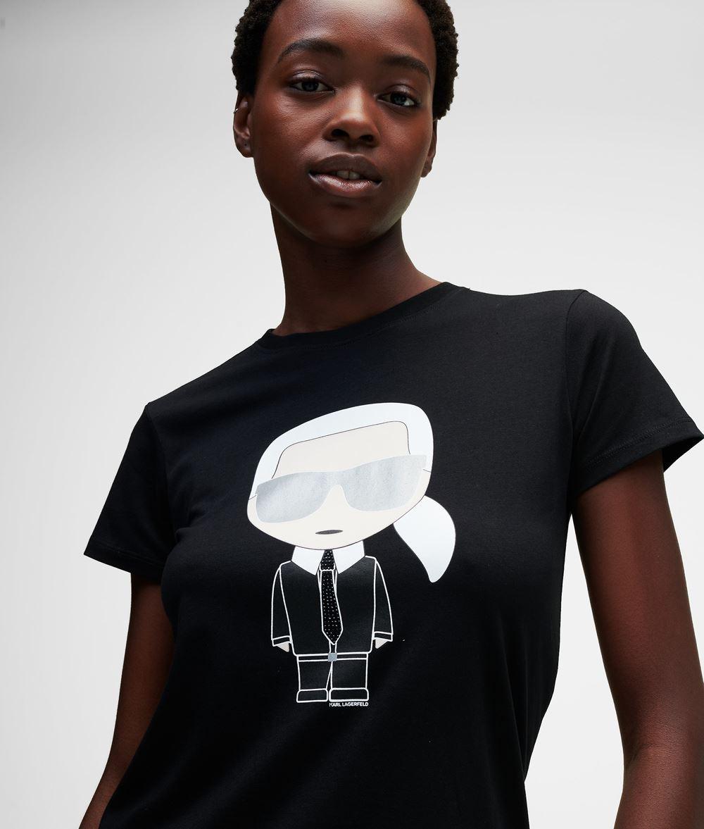 KARL LAGERFELD Ikonik Karl T-Shirt T-shirt Woman f