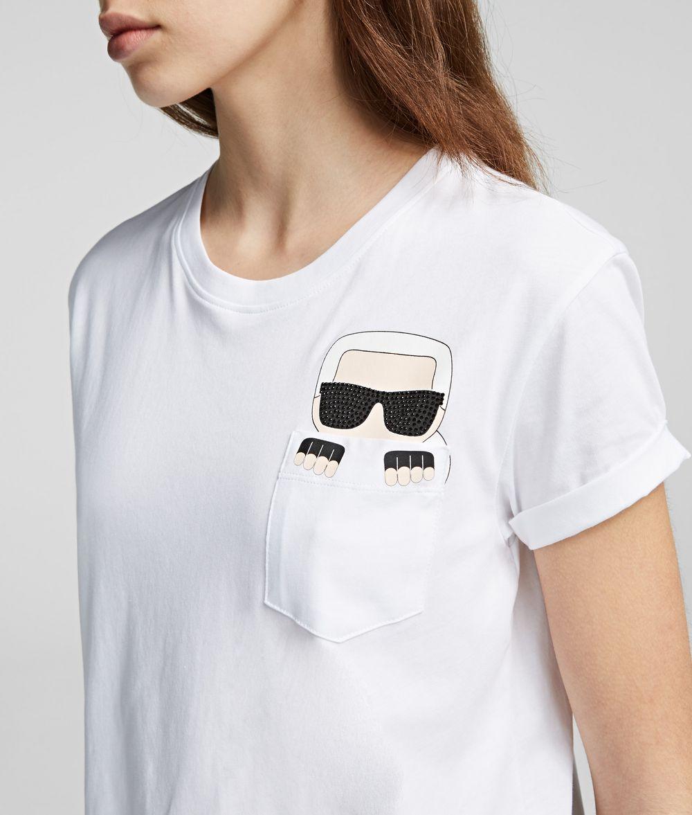 KARL LAGERFELD Ikonik Karl Pocket Tee T-shirt Woman d