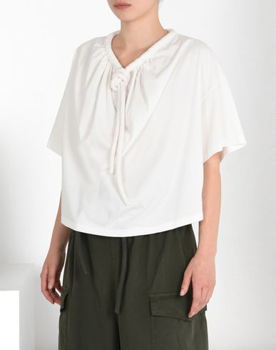 MM6 MAISON MARGIELA Short sleeve t-shirt D Poncho T-shirt with drawstring detail f