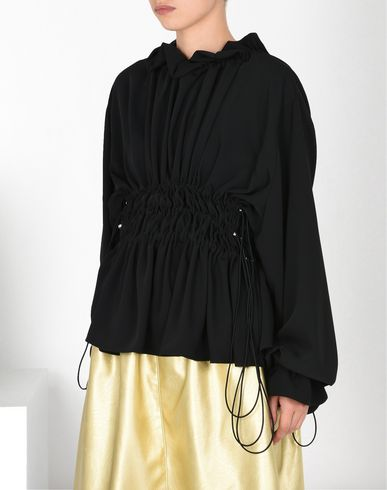 MM6 MAISON MARGIELA Top D Drawstring ruffle blouse f