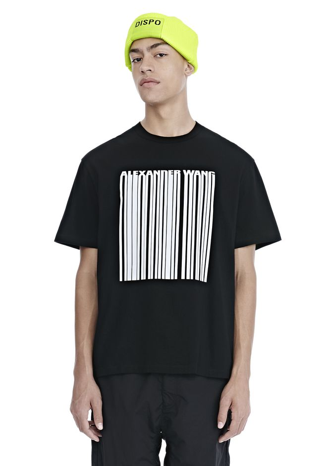 ALEXANDER WANG TOPS Men CLASSIC BARCODE SHORT SLEEVE TEE