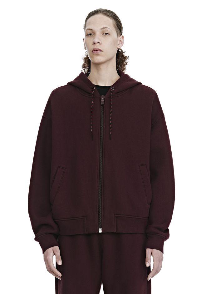 ALEXANDER WANG mens-new-apparel DENSE FLEECE ZIP UP HOODIE