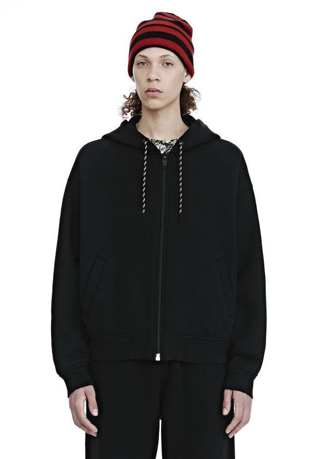 ALEXANDER WANG TOPS Men DENSE FLEECE ZIP UP HOODIE