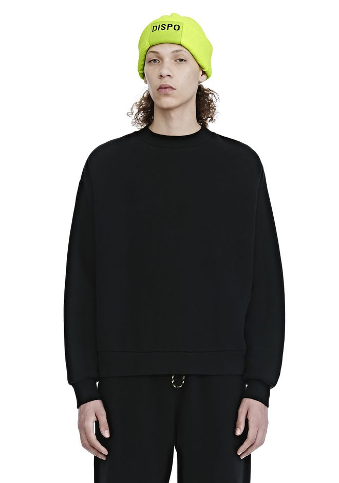 ALEXANDER WANG TOPS Men DENSE FLEECE CREWNECK SWEATSHIRT