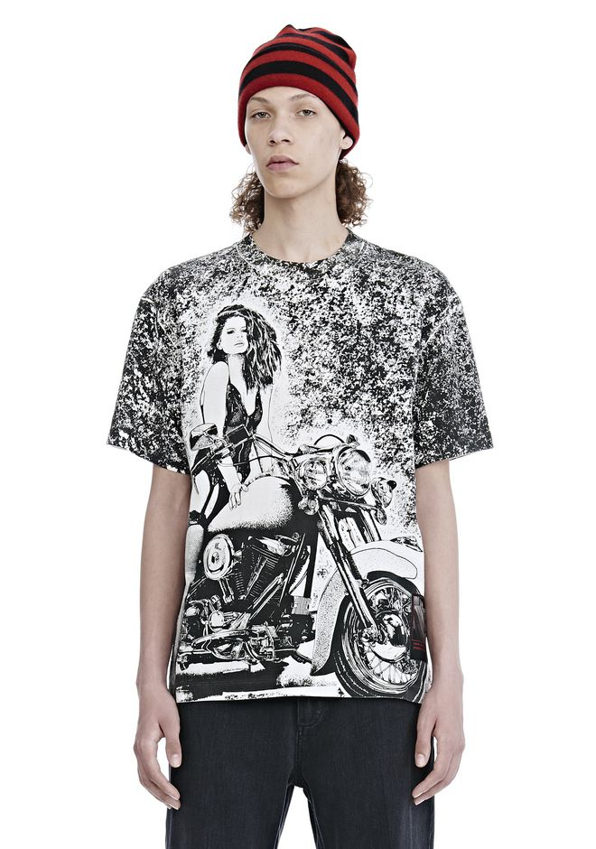 ALEXANDER WANG TOPS Men SLOW AND STEADY SHORT SLEEVE TEE