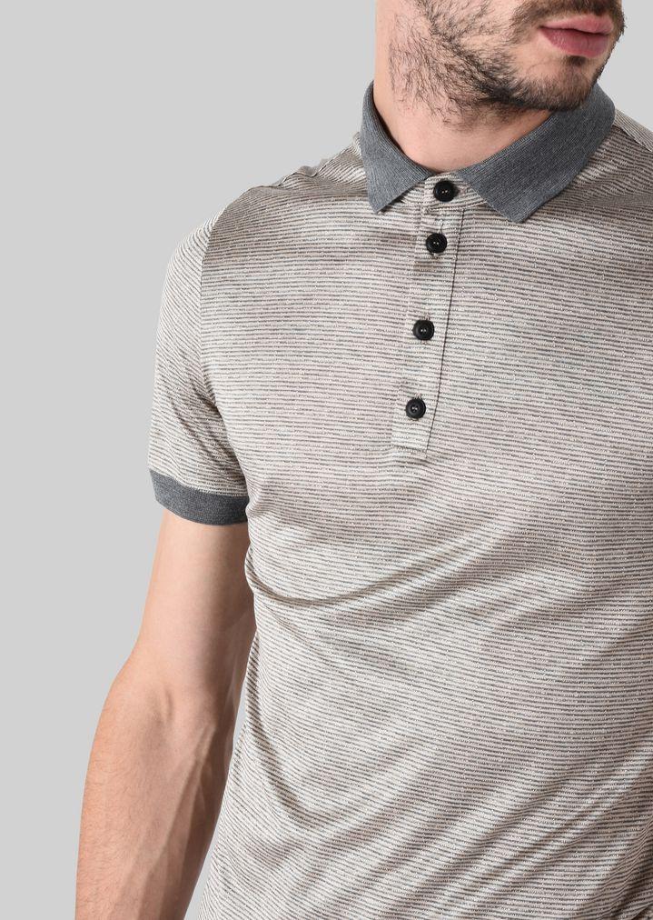 GIORGIO ARMANI ポロTシャツ シルクジャージージャカード製 ポロシャツ メンズ a
