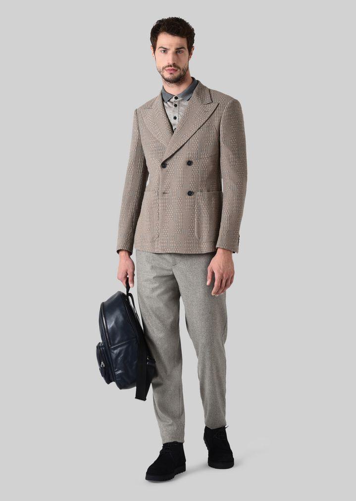 GIORGIO ARMANI ポロTシャツ シルクジャージージャカード製 ポロシャツ メンズ f