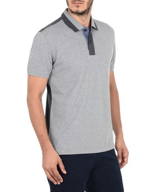 NAPAPIJRI EFIN SHORT SLEEVES MAN SHORT SLEEVE POLO,GREY