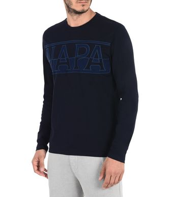 NAPAPIJRI SASLONG LONG SLEEVES MAN LONG SLEEVE T-SHIRT,DARK BLUE