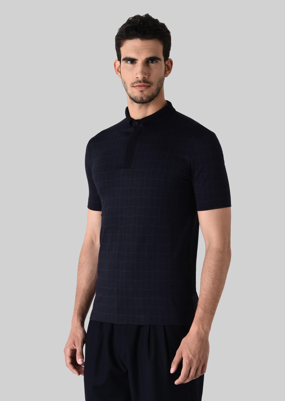 Stretch jersey polo t shirt for men giorgio armani for Stretch polo shirt mens