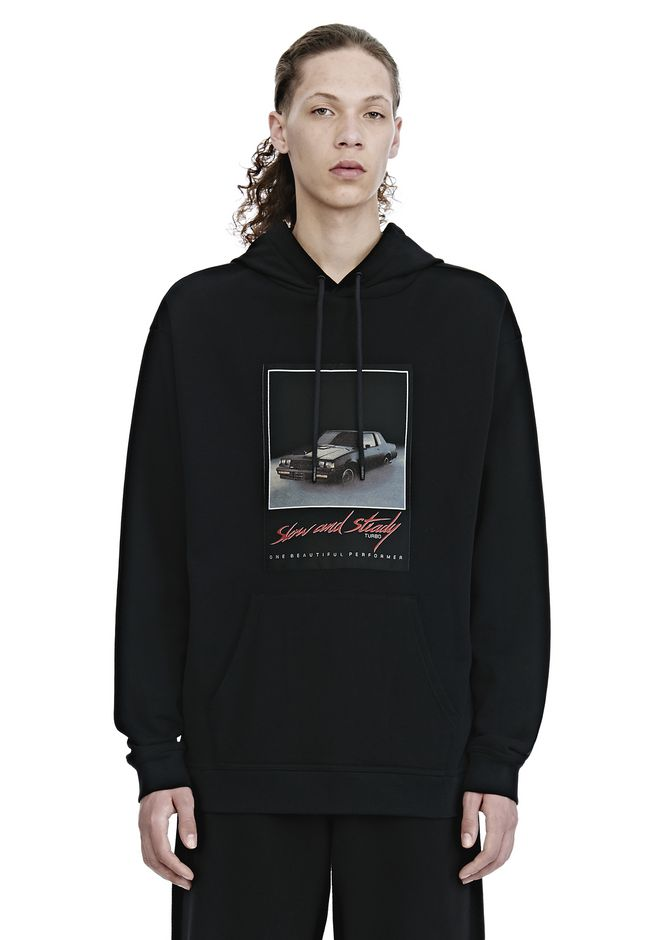 ALEXANDER WANG TOPS Men SLOW AND STEADY PATCH HOODIE