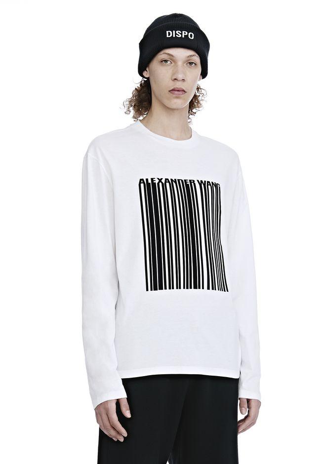 Alexander Wang Barcode Logo Short Sleeve T Shirt White