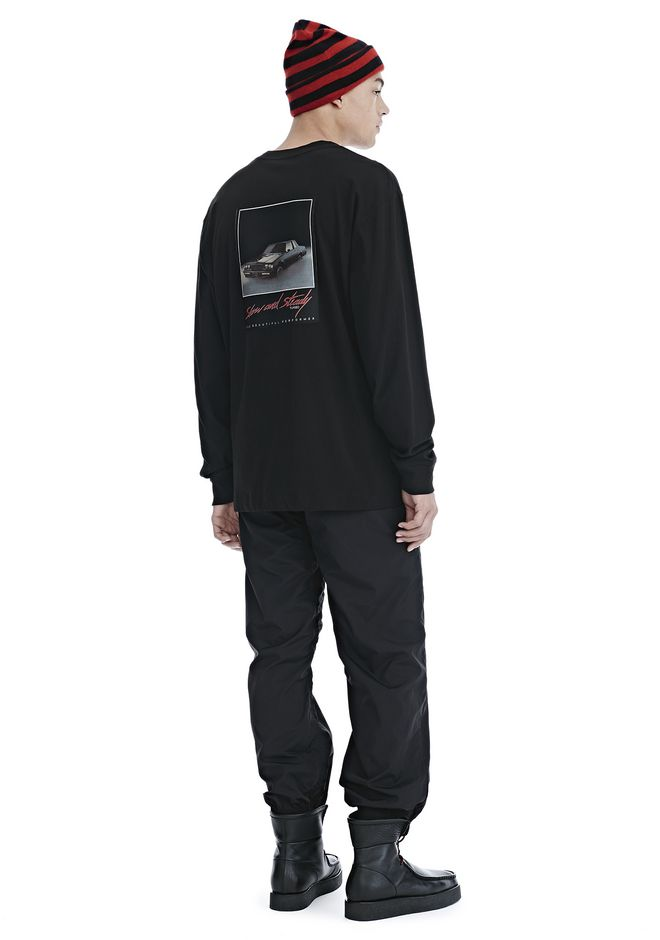 ALEXANDER WANG SLOW AND STEADY PATCH LONG SLEEVE TEE TOP Adult 12_n_f