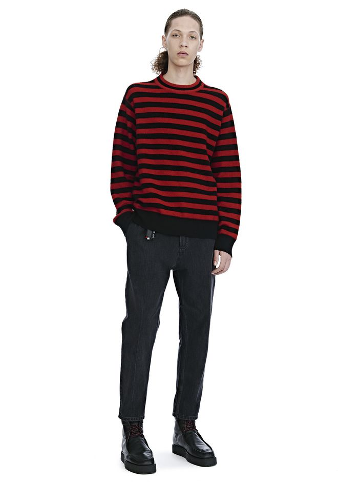 ALEXANDER WANG LONG SLEEVE STRIPED PULLOVER TOP Adult 12_n_f