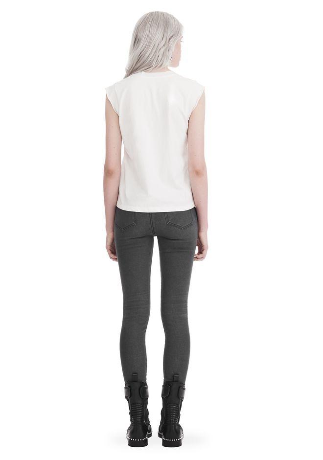 T by ALEXANDER WANG HIGH TWIST JERSEY MUSCLE TEE  上衣 Adult 12_n_r