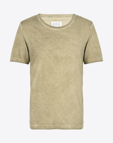 MAISON MARGIELA Cotton T-shirt with contrast detail Short sleeve t-shirt U f