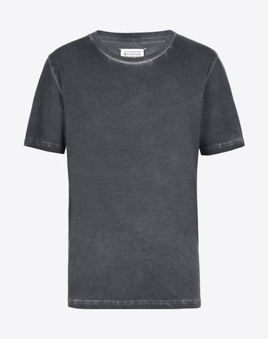 MAISON MARGIELA Short sleeve t-shirt U Cotton T-shirt with contrast detail f