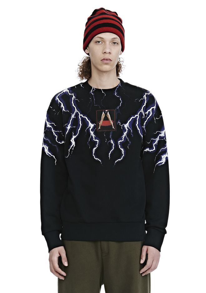 ALEXANDER WANG mens-new-apparel LIGHTNING COLLAGE SWEATSHIRT
