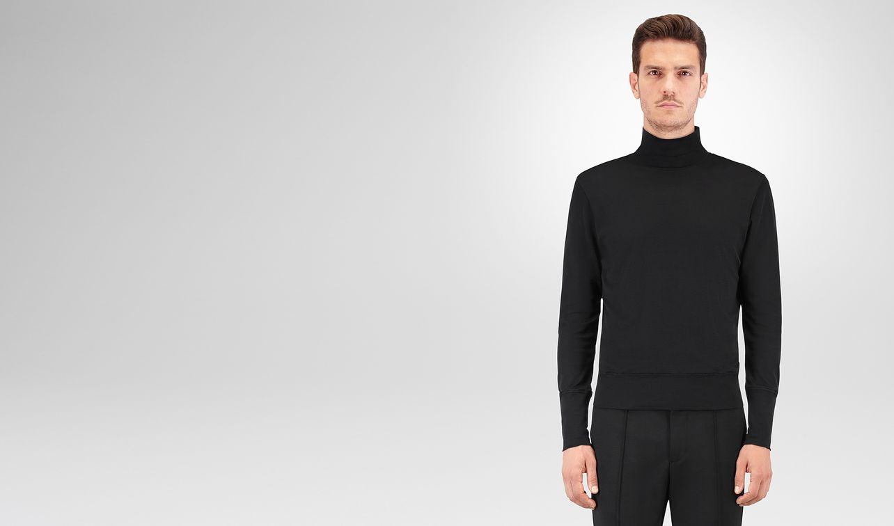 nero silk cotton jersey turtleneck landing