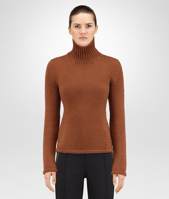 BOTTEGA VENETA PULLOVER IN CACHEMIRE LEATHER Maglieria o camicia o top Donna fp