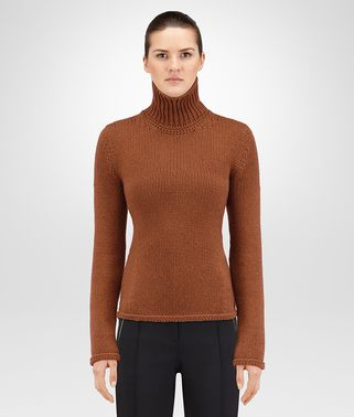 LEATHER CASHMERE SWEATER