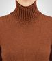leather cashmere sweater Front Detail Portrait