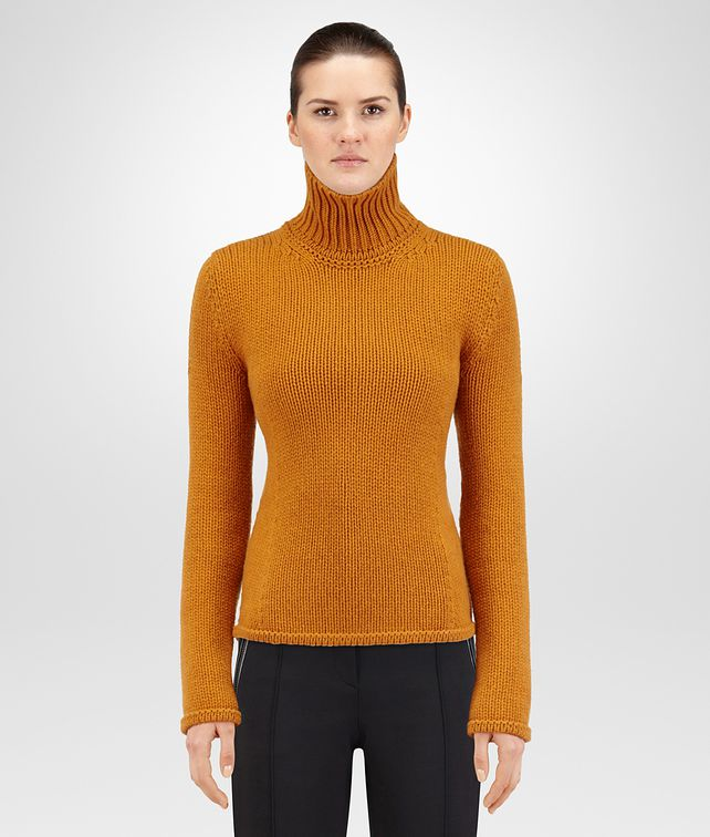 BOTTEGA VENETA OCRE CASHMERE SWEATER Knitwear or Top or Shirt Woman fp