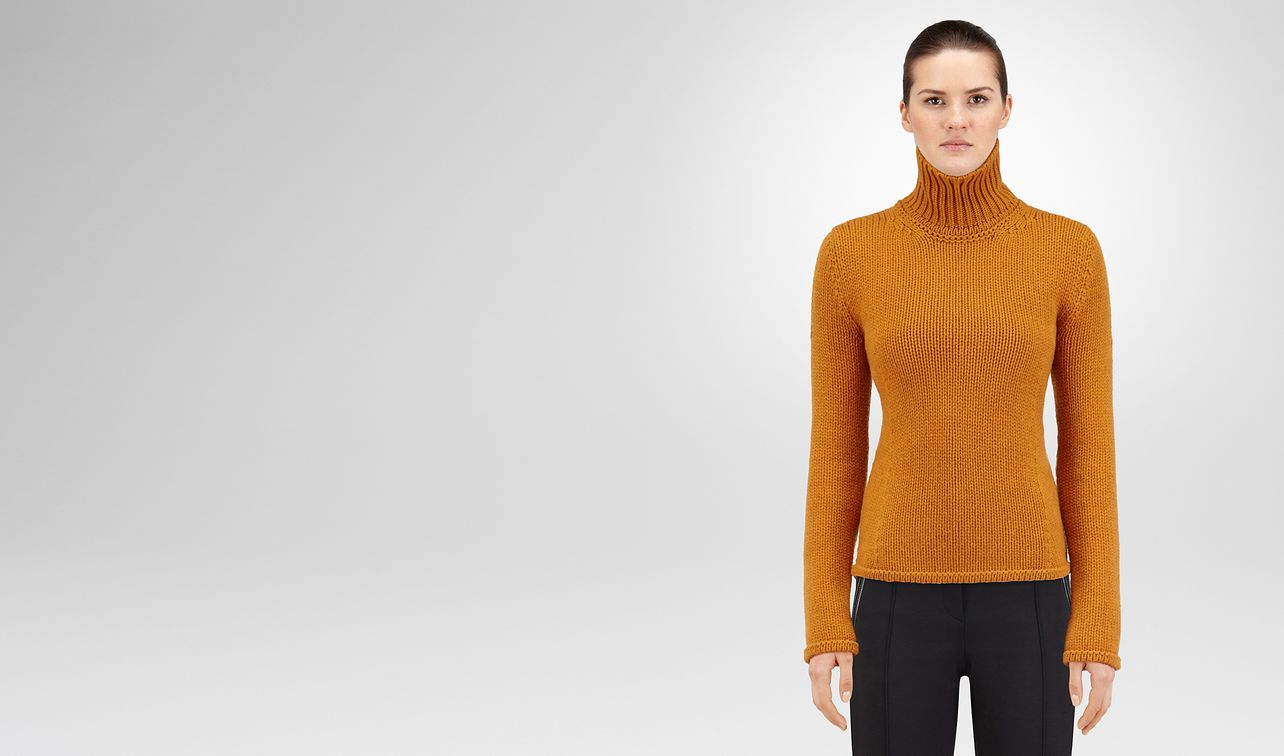 pullover in cachemire ocre landing