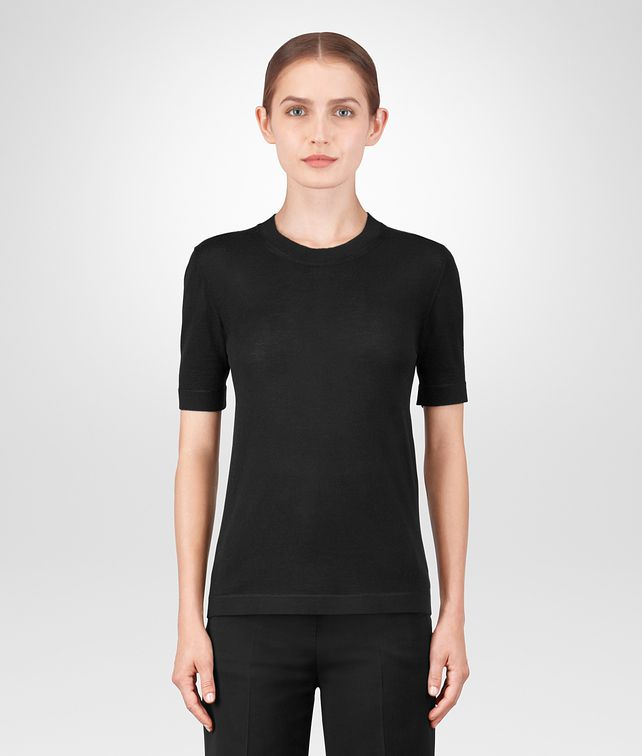 BOTTEGA VENETA NERO CASHMERE TOP Knitwear or Top or Shirt Woman fp