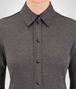 BOTTEGA VENETA DARK GREY WOOL PIQUET SHIRT Knitwear or Top or Shirt Woman ap