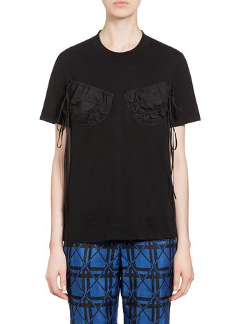 Marni T-shirt in combed jersey Woman