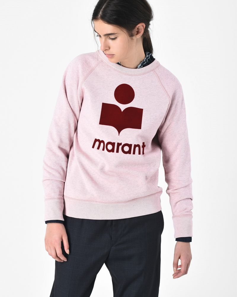 Milly Cotton sweatshirt with velvet effect logo ISABEL MARANT ÉTOILE