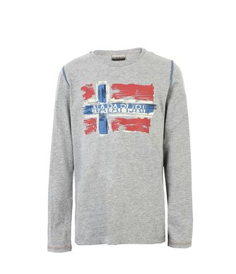 NAPAPIJRI K SACHS LS KID LONG SLEEVE T-SHIRT,GREY