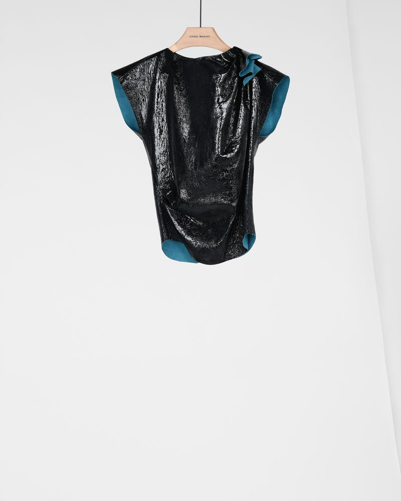 FOSTER leather top ISABEL MARANT